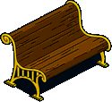 Ornate Pier Bench Icon