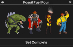 Fossil Fuel Four Character Collection