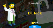Tapped Out Dr. Nick New Character