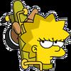 Saxophone Lisa Annoyed Icon