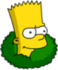 Bart In Bushes Icon