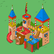 Toy Fortress in spring