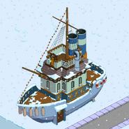 Boat House on land