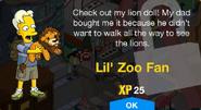 Lil' Zoo Fan Unlock Screen