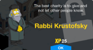 Rabbi Krustofsky Unlock Screen