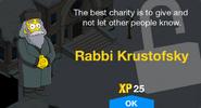 Rabbi Krustofsky Unlock Screen
