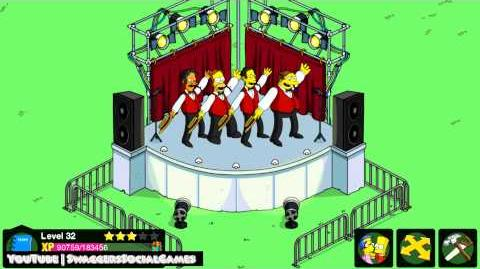 The Simpsons Tapped Out Premium Open Air Stage