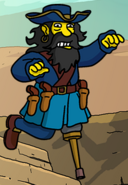 Blackbeard pegleg