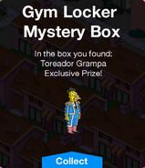 Gym Locker Mystery Box Prize Toreador Grampa