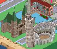 Leaning Tower, Colloseum & Old Cathedral in the game