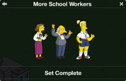 More School Workers Character Collection 2019