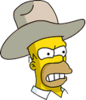 Cowboy Homer Angry Icon