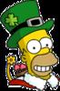 Holiday Homer Happy Icon