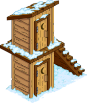 Two-Story Outhouse Snow Menu
