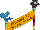 Itchy & Scratchy Land Banner