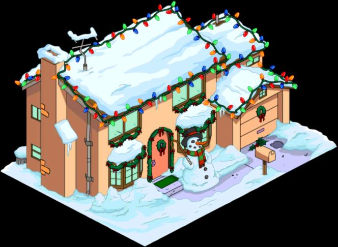 christmas simpsons home