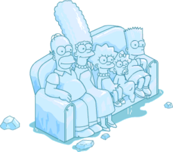 Ice Sculpture Couch Gag Scene Snow Menu
