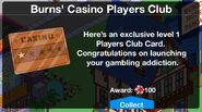 Players Club Card Level up 1 message