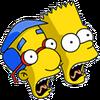 Bart and Milhouse Scream Icon