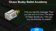 Chazz Busby Ballet Academy notification
