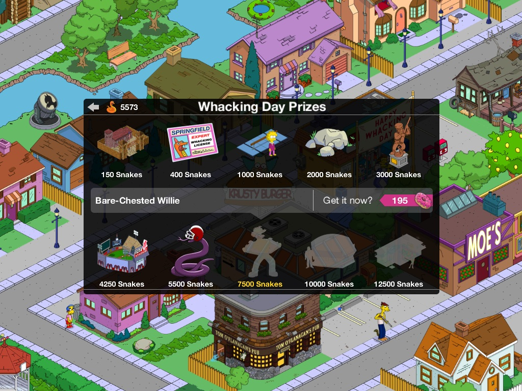 Simpsons tapped out friends points prizes
