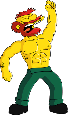Image result for simpsons willie shirtless