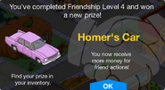 Friendship Level 4 Homer's Car