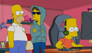 The Detonator with Homer and Bart in the show