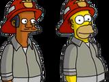 Fireman Apu and Fireman Homer