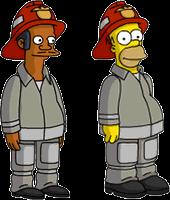 Fireman Apu and Fireman Homer Menu