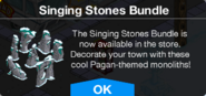 Singing Stones Bundle Notification