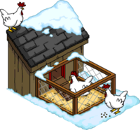 Chicken Coop Snow Menu
