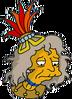 Crazy Iguana Lady Sad Icon