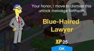 Blue-Haired Lawyer Unlock Screen