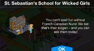 St. Sebastian's School for Wicked Girls notification