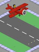 Norbert Flying Loops over runway