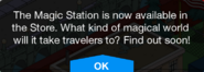 Magic Station Promo message