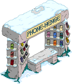 Phone-Henge Kiosk Snow Menu