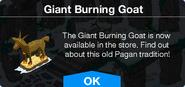 Giant Burning Goat notification