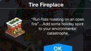 Tire Fireplace notification