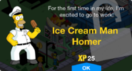 Ice Cream Man Homer Unlock Screen