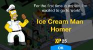 Ice Cream Man Homer Unlock Screen