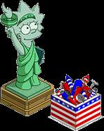 Lisa Statue & Box of Fireworks Menu