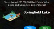 Springfield Lake Unlock Screen