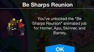 Be Sharps Reunion message