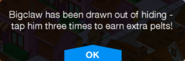 Bigclaw drawn out notification