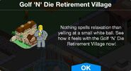 Golf 'N' Die Retirement Village notification
