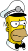 Ice Cream Man Homer Annoyed Icon