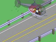 Arnie Pye Doing Traffic Report over Highway