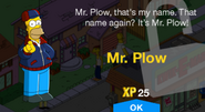 Mr. Plow unlock